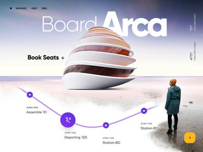 The Ark type icons explore menu shelter navigate slider gallery evacuate landing map flood water travel site webpage