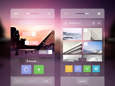 Augmented Tourist ui ux layout interface app application widget flat clean minimal web identity admin dashboard activity console tourist reality augmented