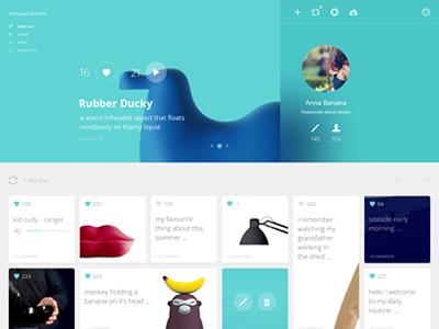 21 Degrees ui ux web layout website gallery minimal flat blur social network
