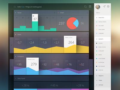 Some Analytics analytics stats dashboard graph chart pie bars flat