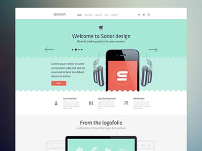 Sonor Website minimal clean web flat website layout ui ux