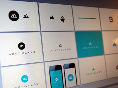 Arcticlabs Identity clean flat minimal logo branding identity arctic blue