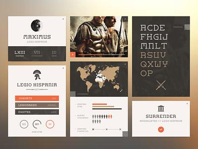 Flat Roman Typeface   Ui ui ux layout interface app application widget flat clean minimal web roman typeface identity army