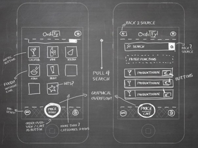 Ordify Wireframe wireframe iphone tool navigation