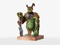 Old King ork maquette