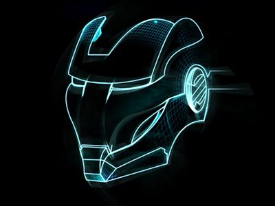 Iron Man design helmet