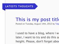 Blogging again?