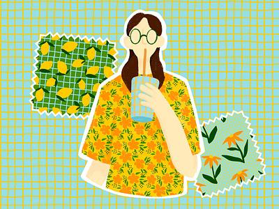 Shot of vitamins - Pattern collection fabric textile fashion illustrator pattern surface pattern textile design procreate illustration graphic design design
