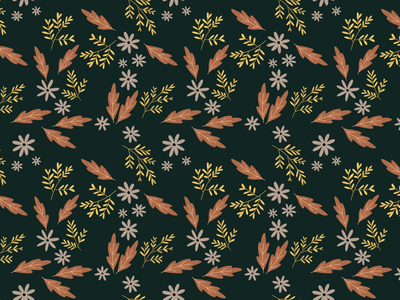 Autumnal pattern procreate drawing autumn illustration collection fall pattern surface design pattern graphic design