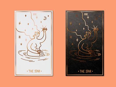 XVII The star - Tarot card tarot game card illustrator procreate design illustration graphic design
