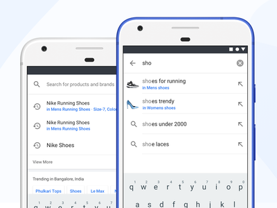 Search Suggestions - Autosuggest ux ui shopping flipkart ecommerce search autosuggest search box mobile material design