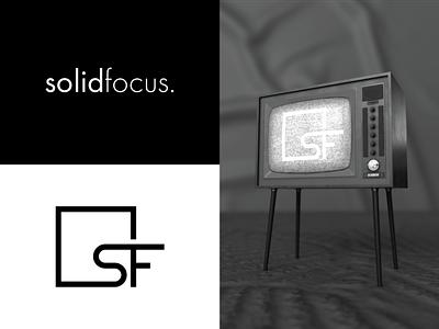 Solid Focus videography mockup icon wordmark letterling logo logotype
