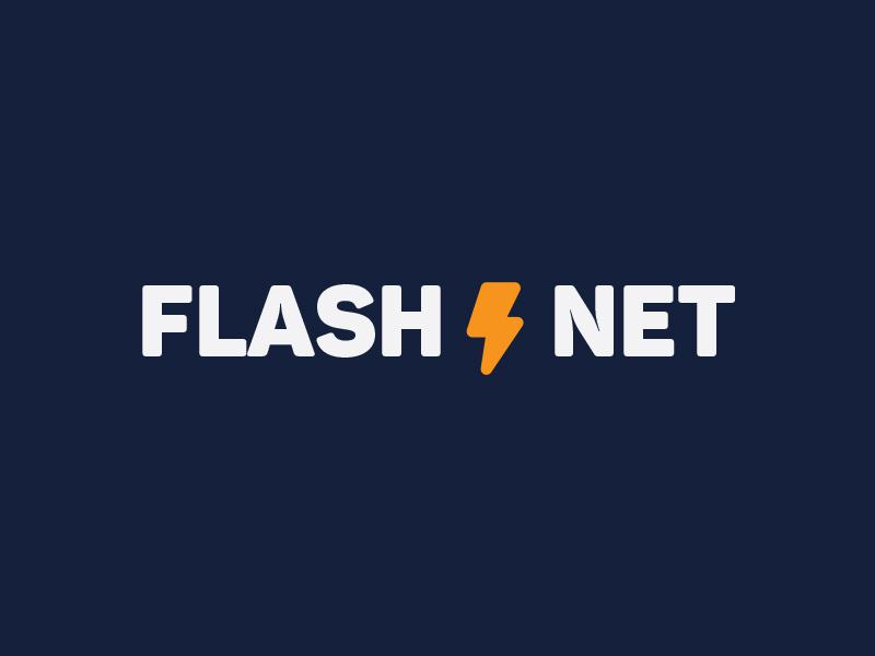 Flashnet internet brand logo company net flash
