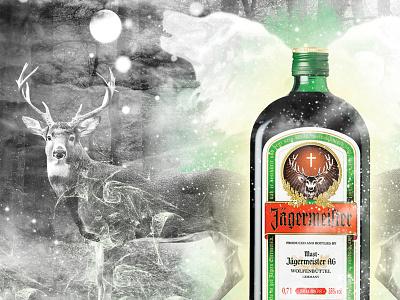 Jägermeister Concept photomainpulation design dawidsienko graphic conept vodka jägermeister