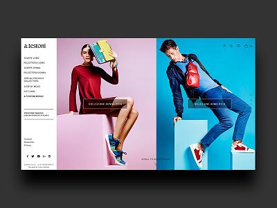a.testoni - creative concept  online store fashion store art direction website web testoni ecommerce fashion webdesign