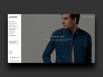 a.testoni - shop by look webdesign fashion ecommerce testoni web website art direction fashion store online store