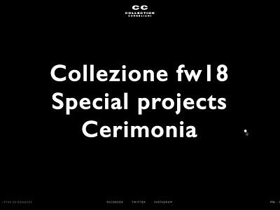 Corneliani - Homepage animated animation interaction corneliani creative ux ui digital design fashion store store principle gif web online store fashion ecommerce website webdesign art direction