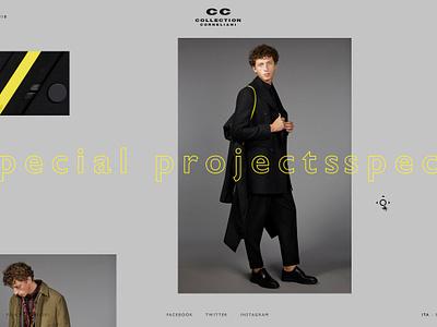 Corneliani - Collection Page art direction webdesign website ecommerce fashion online store web gif principle store fashion store design digital ui ux creative corneliani interaction animation animated