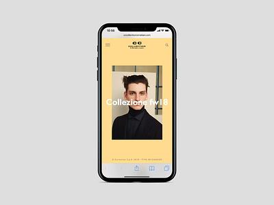 Corneliani - Mobile mobile animated animation interaction corneliani creative ux ui design fashion store store principle gif web online store fashion ecommerce website webdesign art direction