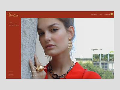 Pomellato - Homepage animated animation pomellato interaction creative ui design fashion store store principle gif web fashion online store ecommerce website webdesign art direction