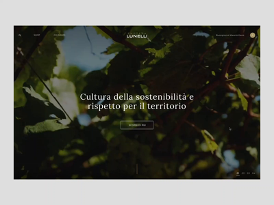 Enoteca Lunelli - Homepage ferrari ui interaction digital creative animation animated design store principle gif web online store fashion ecommerce website webdesign art direction