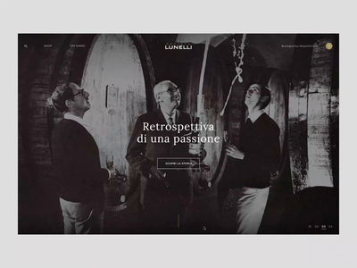 Enoteca Lunelli - Homepage scroll ferrari ui interaction digital creative animation animated design store principle gif web online store ecommerce website webdesign art direction