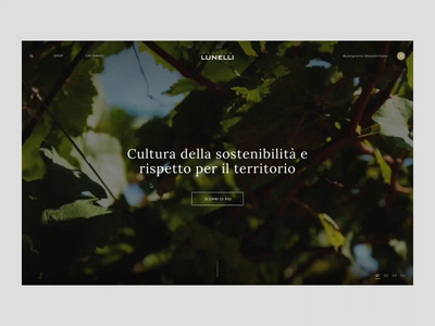 Enoteca Lunelli - layer menù ferrari ui interaction digital creative animation animated design store principle gif web online store ecommerce website webdesign art direction