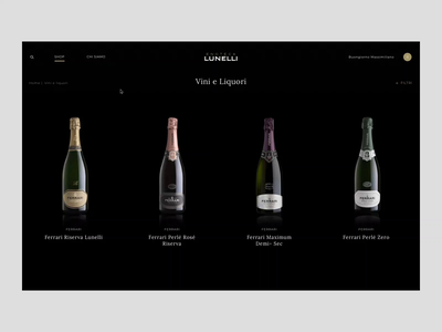 Enoteca Lunelli - Listing Page ferrari ui interaction digital creative animation animated design store principle gif web online store ecommerce website webdesign art direction