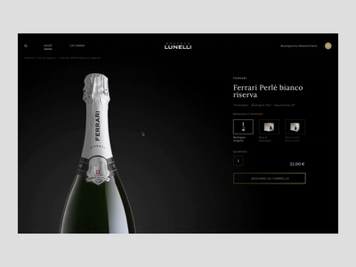 Enoteca Lunelli - Item Page ferrari ui interaction digital creative animation animated design store principle gif web online store ecommerce website webdesign art direction