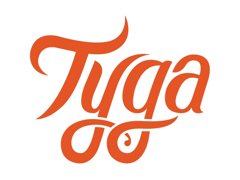 Tyga Logo wip tiger brush typography hand lettering spices indian logo branding