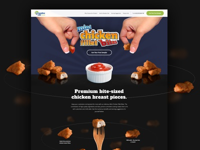 Meadow Vale campaign space orbit fast food chicken landing page web design