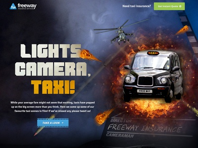 Lights, Camera, Taxi fireball apache helicopter explosions die hard de niro movies film taxi content marketing