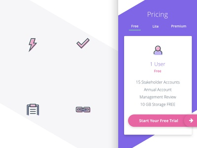 Style Tile and Custom Icons wip pricing software technology icons ui style tile