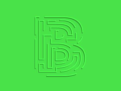 36 Days of Type – B illustration typography maze lettering b 36 days of type