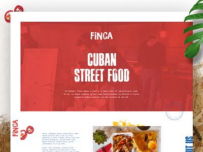 Finca Landing Page food parallax one page hemingway finca cuba cuban street food
