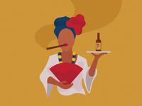 Cuban Lady vintage illustration cigar lady cuban beer