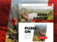 Apex Running Homepage ultra marathon ui outdoors running landing page homepage