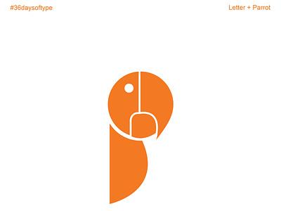 Letter P graphic design flat vector typography minimal logo illustrator illustration design branding