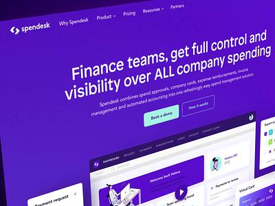 Spendesk New Homepage illustration dashboard website webdesign ux ui spendesk homepage identity design branding brand after effects