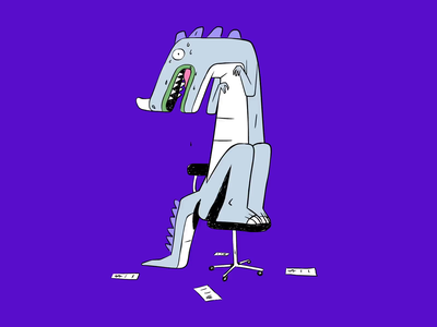Spendesk - Don't be a dinosaur animations illustration for web art design animated illustration character design vector illustration stressed stress dino dinosaur animation illustration spendesk