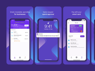 Spendesk App Store Screenshots finance store screenshots spendesk googleplay design appstore app