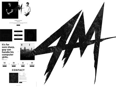 James Myers Mid 2015 Portfolio portfolio hind montserrat website modern black white