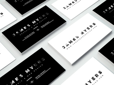 James Myers Business Cards modern black and white business card