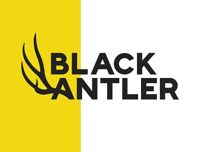 Black Antler branding logo modern antler