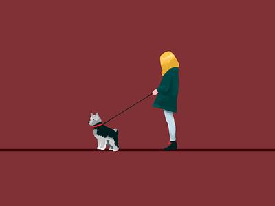City folk pup illustration