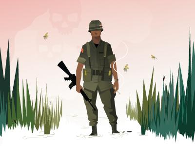 Ace of spades poppy remembrance soldier vietnam