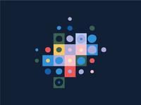 Fluid pixel pattern party