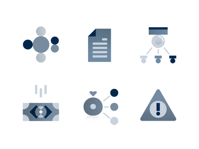 icon set for Colony.io part 2 organization smart contract block data charts stars payments finances money talent security finance black and white grey illustration icons corporate blockchain