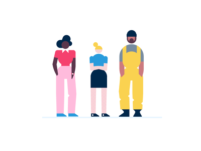 colony people pink hair shoes blockchain primary yellow pink pants mexican beanie womans overalls diversity woman girl project manager construction colony.io character