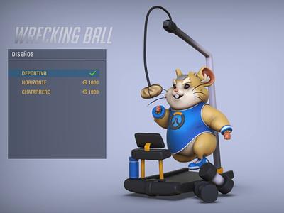 Hammond Overwatch skin design game art illustration design concept art